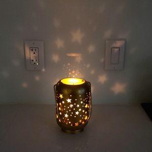 Star pattern tea candle hanging lantern